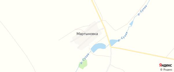 Карта поселка Мартыновки в Челябинской области с улицами и номерами домов