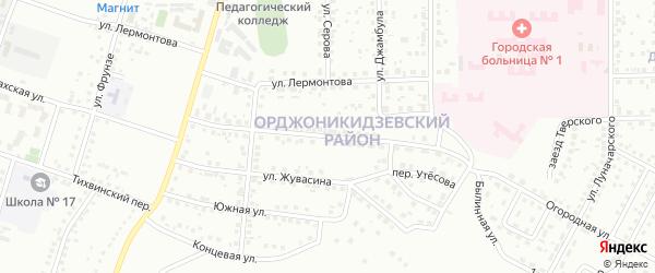 Родниковая улица на карте Магнитогорска с номерами домов