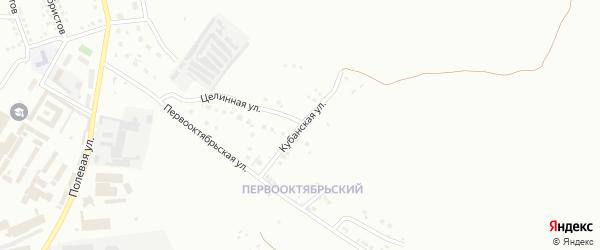 Кубанская улица на карте Магнитогорска с номерами домов