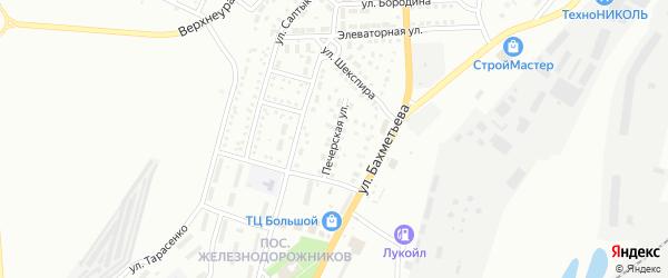 Печерская улица на карте Магнитогорска с номерами домов
