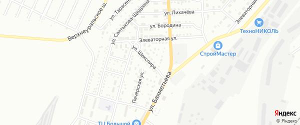 Улица Шекспира на карте Магнитогорска с номерами домов