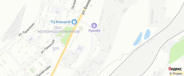 Проселочная улица на карте Магнитогорска с номерами домов