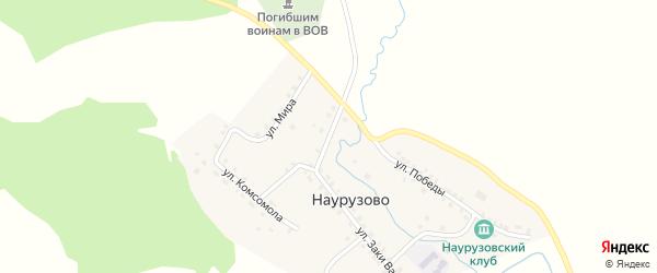 Улица Абрара Габдрахманова на карте села Наурузово с номерами домов