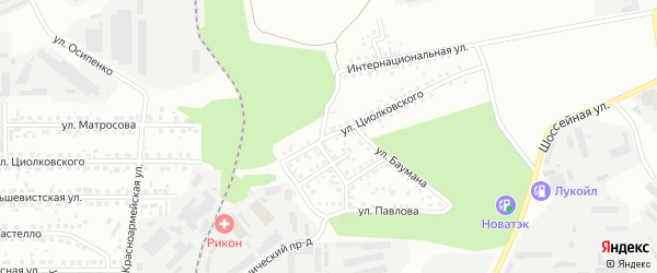 Улица Кропоткина на карте Магнитогорска с номерами домов