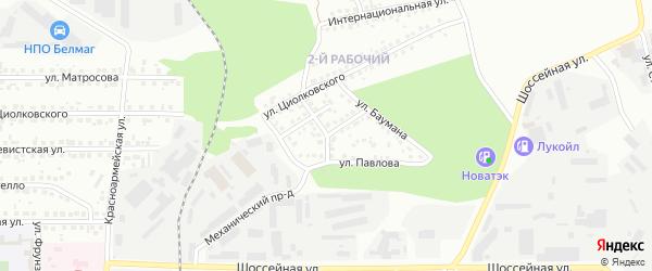 Улица Макаренко на карте Магнитогорска с номерами домов