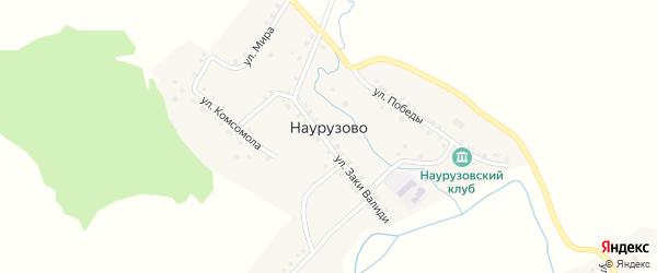 Центральная улица на карте села Наурузово с номерами домов