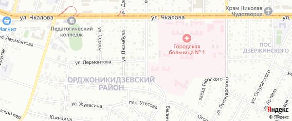 Улица Лермонтова на карте Магнитогорска с номерами домов