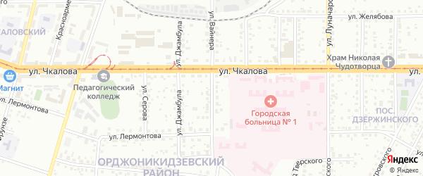 Улица Вайнера на карте Магнитогорска с номерами домов
