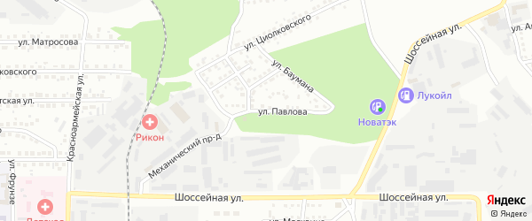 Улица Павлова на карте Магнитогорска с номерами домов