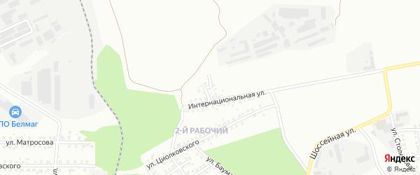Севастопольский переулок на карте Магнитогорска с номерами домов
