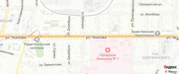 Улица Чкалова на карте Магнитогорска с номерами домов