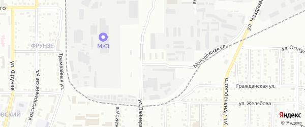 Улица Огарева на карте Магнитогорска с номерами домов