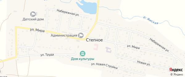 Улица Мира на карте Степного села с номерами домов
