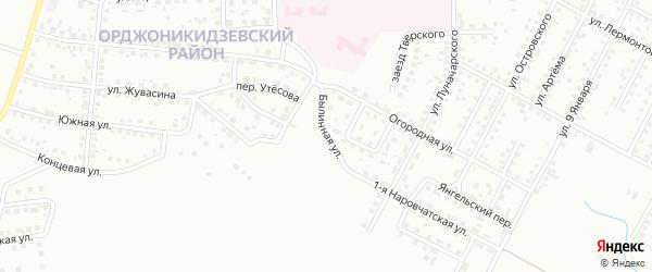 Былинная улица на карте Магнитогорска с номерами домов