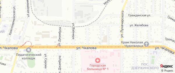 Орский переулок на карте Магнитогорска с номерами домов