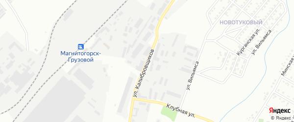 Улица Калибровщиков на карте Магнитогорска с номерами домов