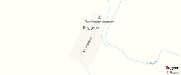 Улица Ягудина на карте деревни Ягудино с номерами домов