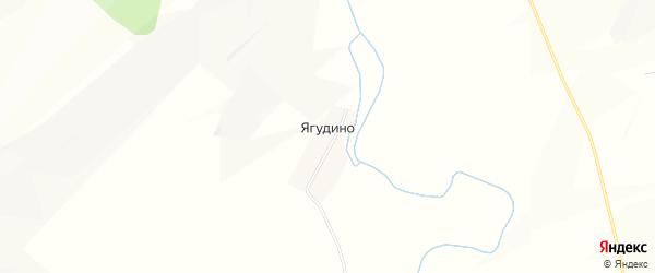 Карта деревни Ягудино в Башкортостане с улицами и номерами домов