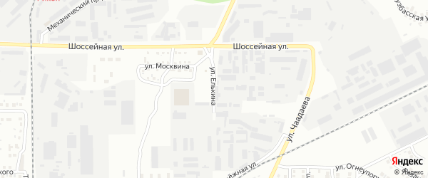 Улица Елькина на карте Магнитогорска с номерами домов