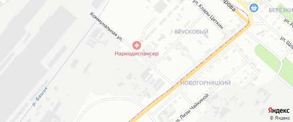 Коммунальная улица на карте Магнитогорска с номерами домов