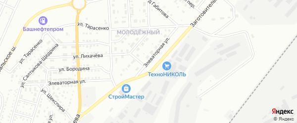Элеваторная улица на карте Магнитогорска с номерами домов