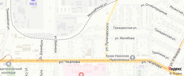 Улица Дзержинского на карте Магнитогорска с номерами домов