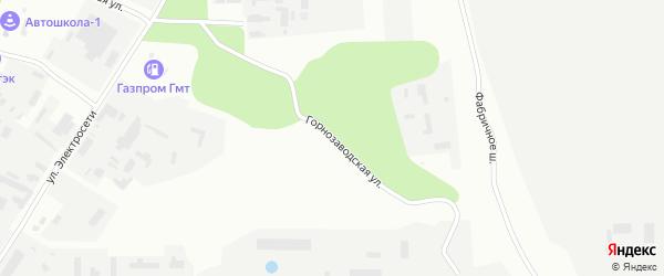 Горнозаводская улица на карте Магнитогорска с номерами домов