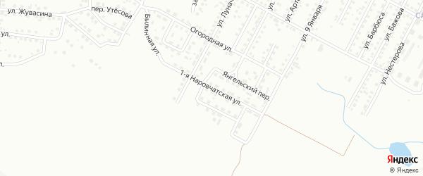Наровчатская 1-я улица на карте Магнитогорска с номерами домов