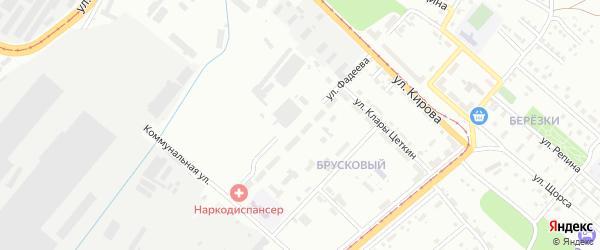 Улица Фадеева на карте Магнитогорска с номерами домов