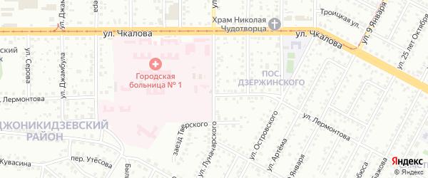Улица Луначарского на карте Магнитогорска с номерами домов
