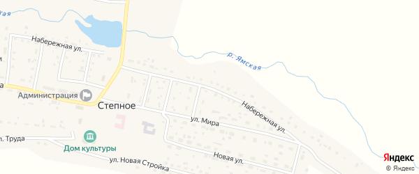 Набережная улица на карте Степного села с номерами домов