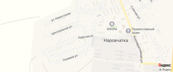 Рабочая улица на карте поселка Наровчатки с номерами домов