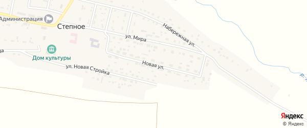 Новая улица на карте Степного села с номерами домов