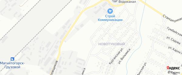 Спортивная улица на карте Магнитогорска с номерами домов