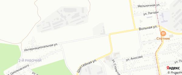 Интернациональная улица на карте Магнитогорска с номерами домов