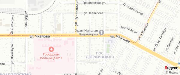 Коммунистическая улица на карте Магнитогорска с номерами домов