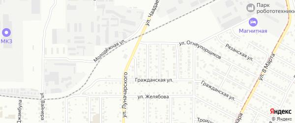 Нижневартовская улица на карте Магнитогорска с номерами домов