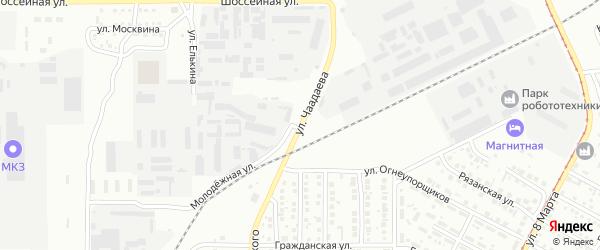 Улица Чаадаева на карте Магнитогорска с номерами домов