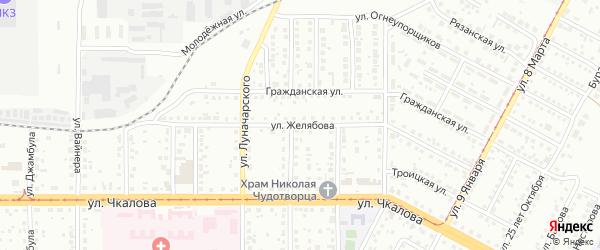 Улица Желябова на карте Магнитогорска с номерами домов