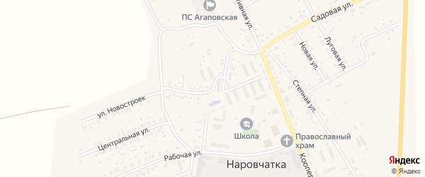Школьная улица на карте поселка Наровчатки с номерами домов