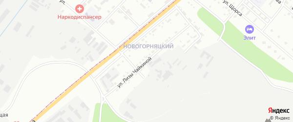 Улица Лизы Чайкиной на карте Магнитогорска с номерами домов