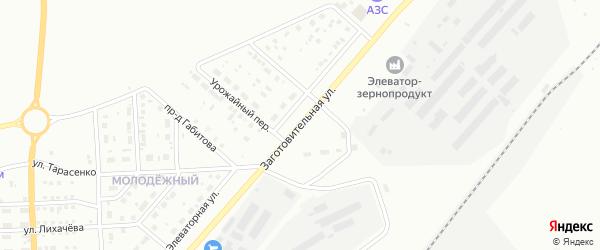Заготовительная улица на карте Магнитогорска с номерами домов