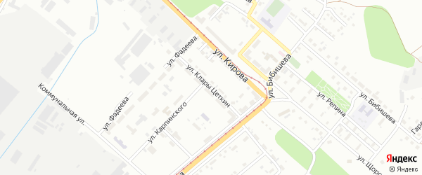 Улица Клары Цеткин на карте Магнитогорска с номерами домов