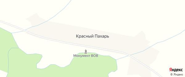 Улица М.Рахимова на карте деревни Красного Пахаря с номерами домов