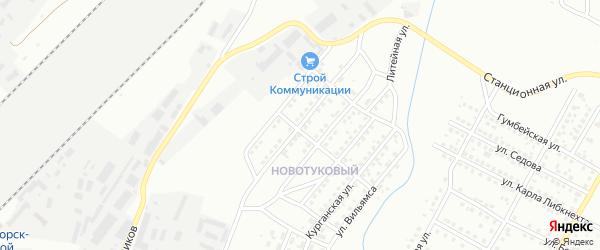 Кемеровская улица на карте Магнитогорска с номерами домов