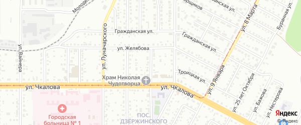 Улица Короленко на карте Магнитогорска с номерами домов