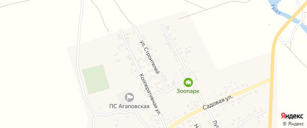Улица Строителей на карте поселка Наровчатки с номерами домов