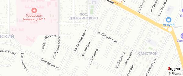 Улица Артема на карте Магнитогорска с номерами домов