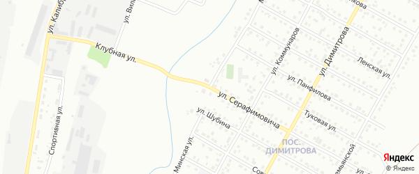 Минская улица на карте Магнитогорска с номерами домов