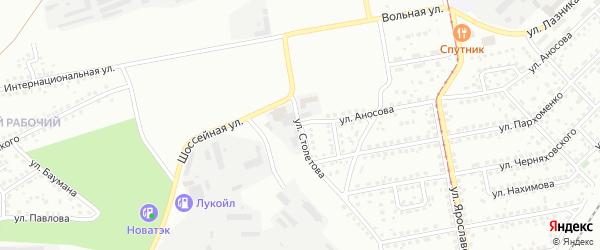 Улица Столетова на карте Магнитогорска с номерами домов